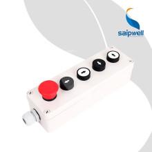 SAIP / SAIPWELL Boîtier de commande électrique pour boîtier PC avec bouton-poussoir et voyant lumineux