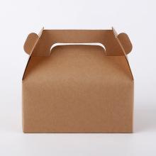 Boîte à gateau en papier avec poignée