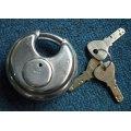 Candado de acero inoxidable, bloqueo del disco, candado (AL60-70-80-90)
