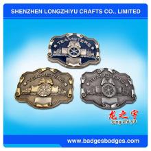 Profesional Manufactur Moda Vestido Decorativo 3D Brass Belt Buckle