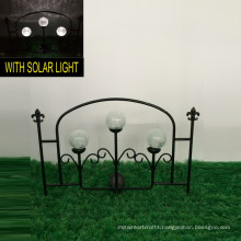 3 Glass Ball Solar Lights Metal Garden Decoration Fence Craft