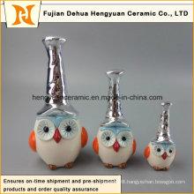 New Design Ceramic Hand-Made Colorful Owl