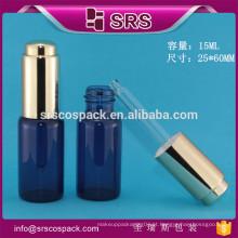 SRS garrafa de conta-gotas de soro cosmético de vidro de alta qualidade 15ml
