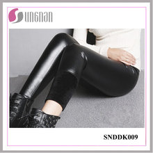 2015 Winter Warm Fashion Women PU Leather Thickening Fleece Leggings
