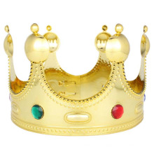 Majestic Royal Gold King Prince Queen Jeweled Crown Tiara