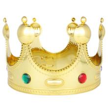 Majestic Royal Gold King Prince Queen Jeweled Crown Tiara