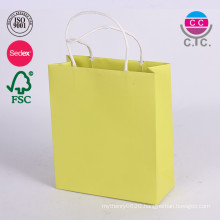 Glossy cardboard luxury paper garment carrier bag wholesale