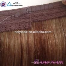 """Cheveux vierges européens 12 """"~ 26"""" usine gros halo extensions de cheveux"""