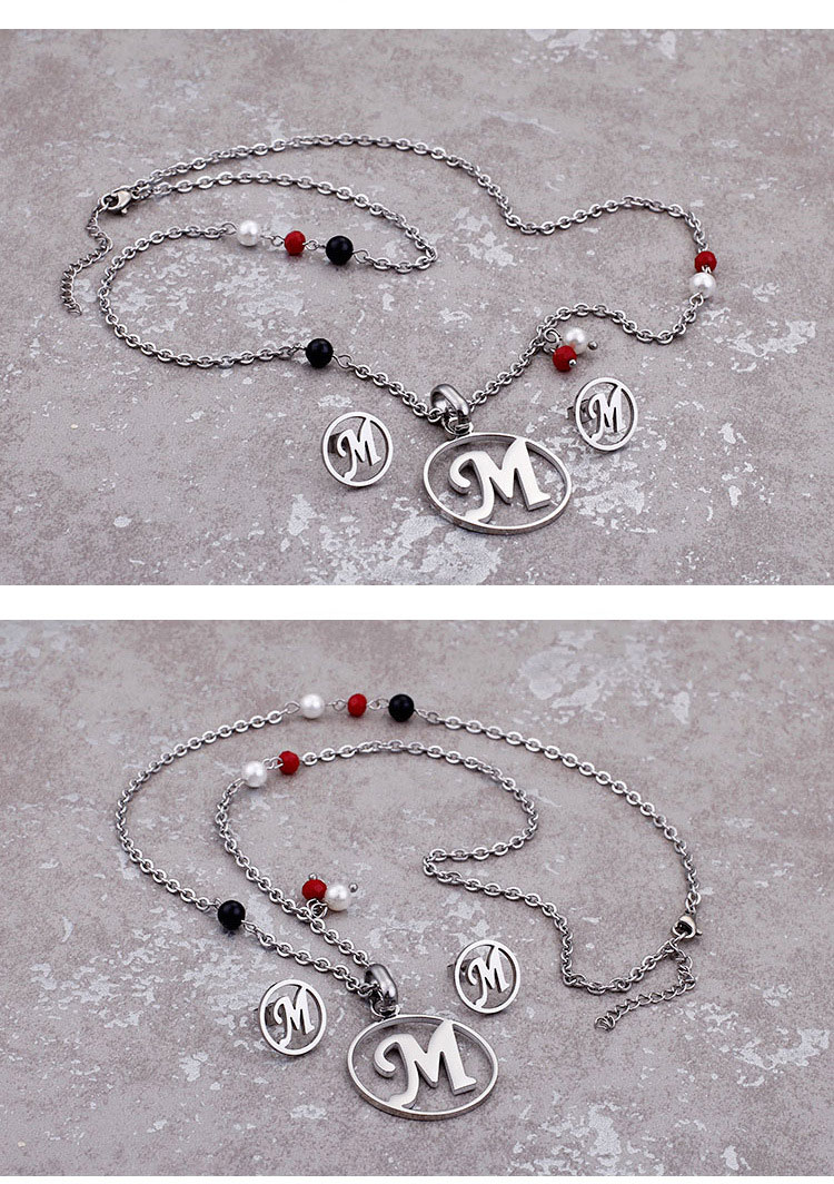 letter jewelry sets