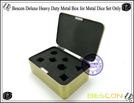 Bescon Deluxe Heavy Duty Metal Box for Metal Dice Set Only-2