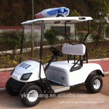 2 seater mini police gas powered golf carts for community