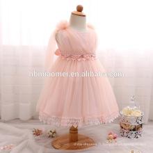 Wholesale Enfant Vêtements Bébé Fille Baptême Robe Fille Douce Strass Tulle Princesse Mignon Dress