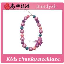 princess kids bulk bead wholesale chunky bubblegum necklace for girls
