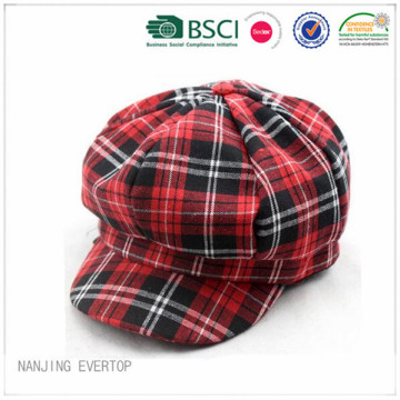100% Cotton Plaid Ivy Cap