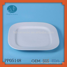 Wholesale white ceramic serving food tray plate fruit for sale