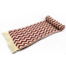 Écharpe tricotée lourde d'impression mixte de vague d'hiver de couleur chaude unisexe (SK168)