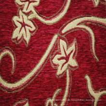 Rotes Chenille-Jacquard-Muster-Polsterungs-Gewebe