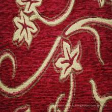 Красный Синель Жаккард Обивочная Ткань