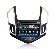DVD de coche HOT con enlace espejo / DVR / TPMS / OBD2 para pantalla táctil completa de 8 pulgadas 4.4 sistema Android Chevrolet Cruze 2014