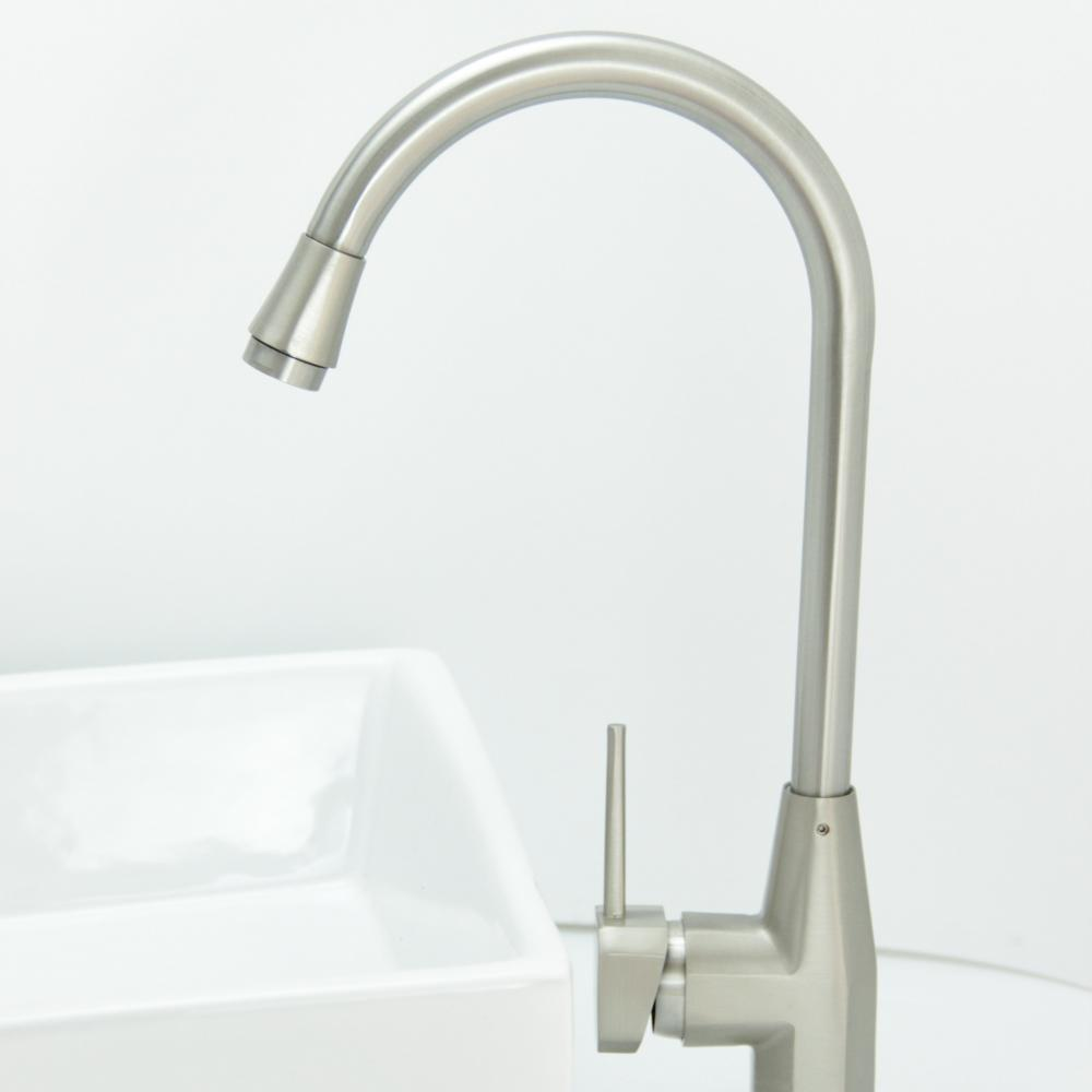 Stainless Steel Sus 304single Handle Sink Water Taps Kitchen Faucet