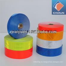 Bandas de cinta reflectiva de enrejado cristalino