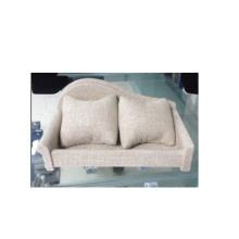 Muebles de pantalla de reloj de estilo beige sofá de lino (WS-Sofa-BL)