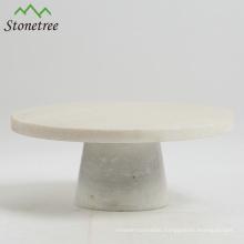 White Round Marble Cake Stand