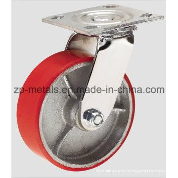 Roulette pivotante de 4 pouces en fer robuste