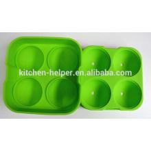 Novedad coloridos alimentos grado silicona hielo bola molde para helado