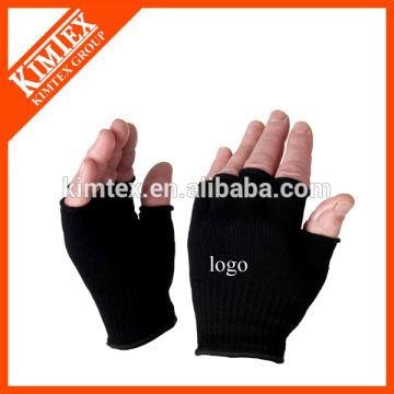 2015 унисекс оптовые акриловые пользовательские трикотажные перчатки без пальцев