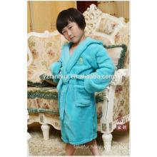 Customed Full Size children kids Soft Warm Fleece bathrobe with Hood