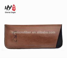 Маленький размер логотип кожаные очки сумка