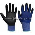 Blue Nylon Work Glove with PU Palm Coated (PN8004-15B)