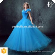 Alibaba Online Cinderela Royal Blue Vestidos de festa de ocasião especial Princess Style Amostra real de vestido de noiva Vestido de noite