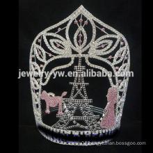 Large Diamond custom Eiffel Tower pageant tiara crown, custom sizes accept