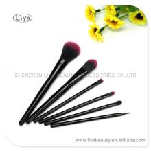 6pcs пластиковой ручкой макияж кисти комплект