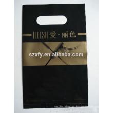 Impresión ecológica bolsa de embalaje de plástico para la tienda de pestañas