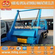 170hp DONGFENG 8cbm hydraulic lifter garbage truck swinging arm garbage truck 4x2 attractive and reasonable price