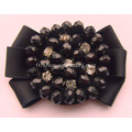 Bowknot Fabric Rhinestone Flower Shoe Clips