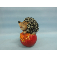 Apple Hedgehog forma de artesanía de cerámica (LOE2535-C12)