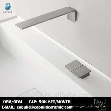 wall mount bathroom sink faucet brushed nickel