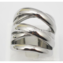 Punk style metal steel unique silver rings for women