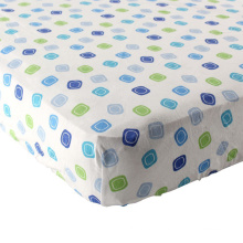 Fitted Crib Sheet-100% Woven Cotton Flannel(Breathable and Soft), Fit Standard Crib Mattress