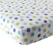 Lençol de algodão 100% tecido flanela (respirável e macio), colchão de berço padrão apto