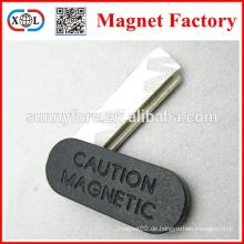 quadratische starke Vorsicht Magnetkarte
