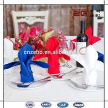100% Polyester 50*50cm Plain Fabric Customized Table Linen Napkins