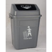 Collecteur de déchets 30L à ordures en plastique avec couvercle pivotant