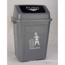 30L Waste Collecting Plastic Garbage Bin with swing cover