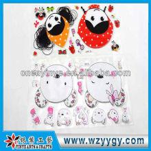 Etiqueta do OEM para a decoração, adesivo de PVC impressão de palstic
