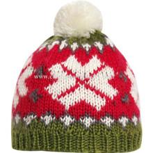 Chunky Cable Knit Bobble Hut Mütze warme Mütze